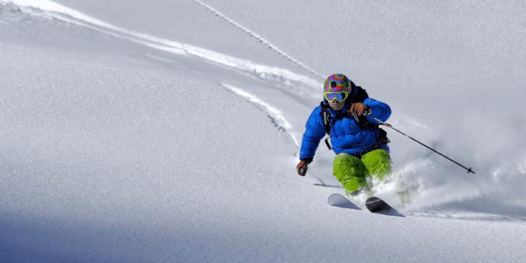 Cómo esquiar en polvo